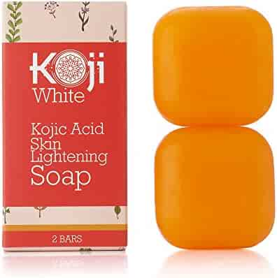Pure Kojic Acid Skin Lightening Soap For Hyperpigmentation, Dark Spots, Sun Damage, Uneven Skin Tone ( 2.82 oz / 2 Bars )