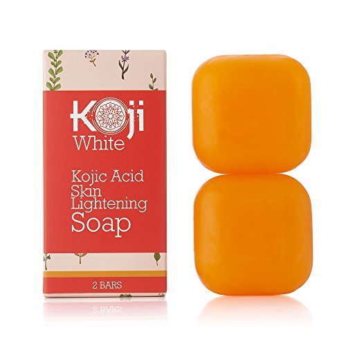 - Pure Kojic Acid Skin Lightening Soap For Hyperpigmentation, Dark Spots, Sun Damage, Uneven Skin Tone (2.82 oz / 2 Bars)