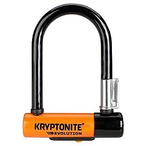 41P8ky%2BTSVL. SS300 Kryptonite 0720018002062 Blocco Disco Evolution Mini-5 con Supporto Flexframe-U, Nero/Arancione