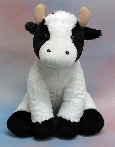 Amazon Com Wishpets 17 Cow White With Black Plush Toy Toys Games