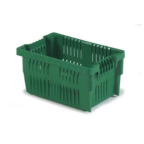 LEWISBINS Ventilated Stack and Nest Containers - Green - Lot of 6