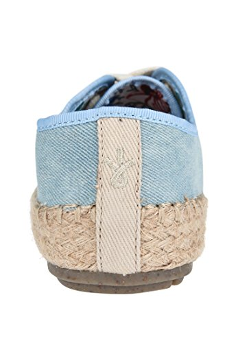 Distress Espadrilles Bastrahmen Light EMU Denim AGONIS Australia Damen vw0nfqFT