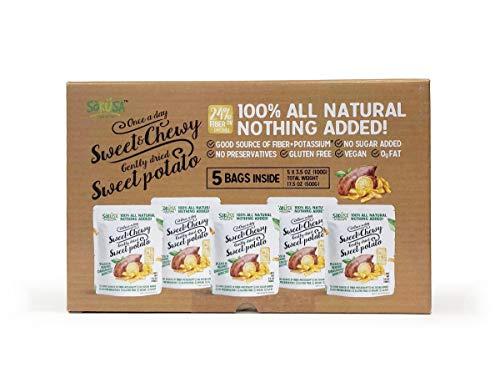 Snacks Potato (Sweet & Chewy Gently Dried Sweet Potato Snack 3.5oz/100g (Pack of 5))