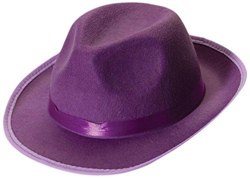 Forum Novelties Men's Deluxe Adult Novelty Fedora Hat, Purple, One Size