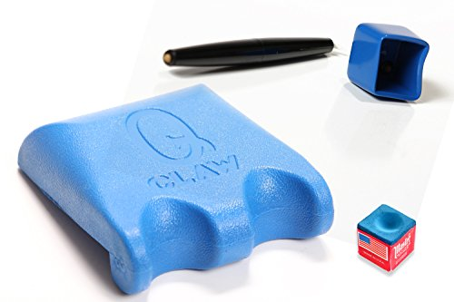 Q Claw Blue 2 Pool Cue Holder with Pocket Chalker (Chalk Pool Holder Cue)