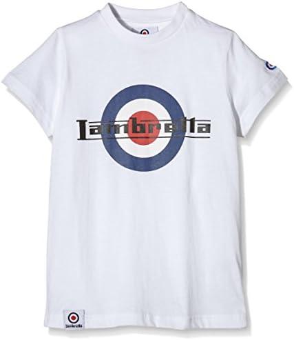 Lambretta Logo tee Camiseta, Blanco (White), 8-9 años para Niños: Amazon.es: Ropa y accesorios