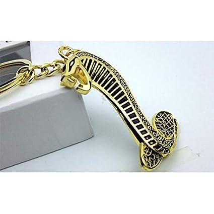 Llavero de metal 3D con insignia de serpiente para auto ...