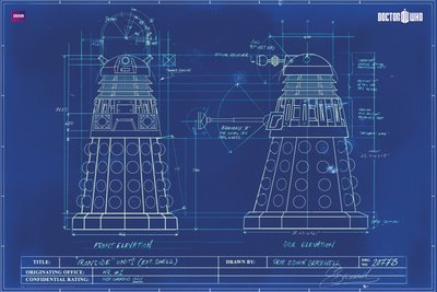 Gb eye 61 x 915 cm doctor who dalek blueprint maxi poster amazon gb eye 61 x 915 cm doctor who dalek blueprint maxi poster malvernweather Gallery