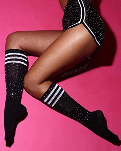ELABEST Rhinestone Thigh High Socks Over Knee Warm Pantyhose Stockings for Women and Girls