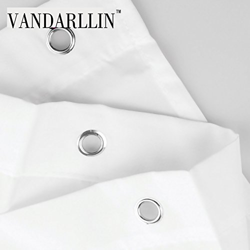 Vandarllin Patterned 100% Polyester Fabric Curtain for x Navy Blue