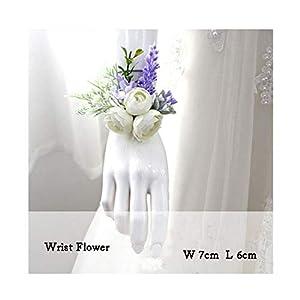 FAT BABY Wedding Boutonniere Wrist Corsage Bracelet Bridesmaid Men Corsage Purple Silk Roses Orchid Marriage Prom Wedding Supplies,Wrist Corsage 35