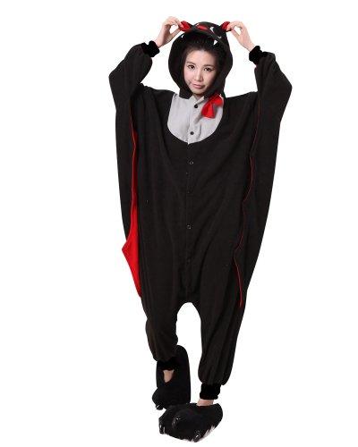Keral Kigurumi Pyjama Erwachsene Anime Cosplay Halloween Kostüm Kleidung_Fledermaus_L