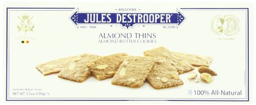 - Jules Destrooper, Almond Thins, 3.5 Ounce