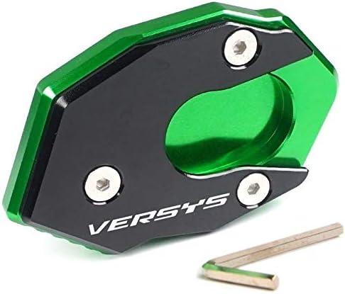 Color : Black green Il basamento di alluminio di CNC Motorcycle laterale Estensione piastra pad cavalletto Ingrandire la prolunga Per KAWASAKI VERSYS1000 Versys 1000 2015-2019