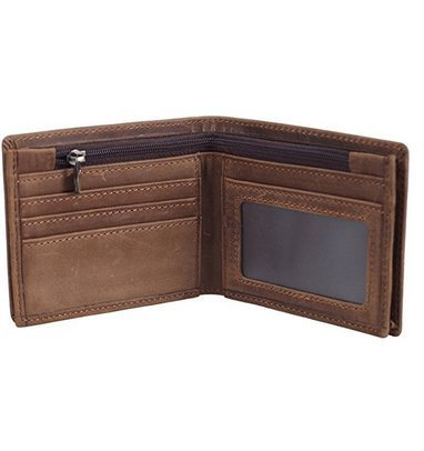 Dmeiling Men 's Blocks Retro Italian Cowboy Leather Slim Pairs Wallets Handcrafted
