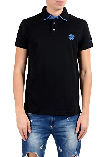 Cavalli Men Shirt - ROBERTO CAVALLI Men's Black Short Sleeve Polo Shirt Size US M IT 50