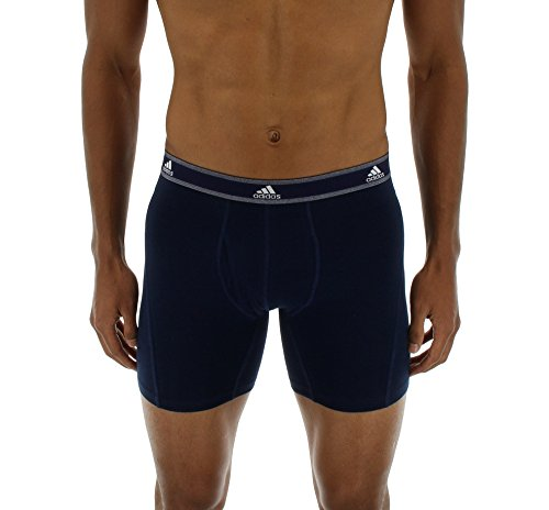 adidas Men's Relaxed Performance Stretch Cotton Boxer Briefs Underwear (2-Pack) by adidas (Image #5)