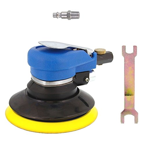 New 5  Air Palm Orbital Sander Random Hand Sanding Pneumatic Round