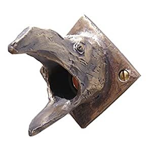 Bronze Raven Door Chime Surround With Lighted Button