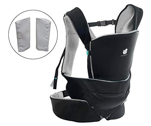 Cococho Front and Back Baby Carrier – Fits New Born to Toddler, Ergonomic, Safe and Easiest Wearing Method. Teething Pads are Included.