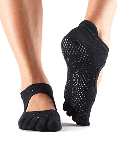 ToeSox Women's Bellarina Full Toe Grip Non-Slip for Ballet, Yoga, Pilates, Barre (Nightlife) Small