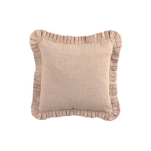 WAVERLY Cape Pleated Pillow, 20 x 20, Coral