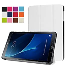 ERLI Samsung Galaxy Tab A 10.1 (SM-T580N/SM-T585N) Case, PU Leather and Hard PC Slim-Fit Flip Stand Smart Case Cover (With Auto Wake / Sleep Feature) for Samsung Galaxy Tab A 10.1 (SM-T580N/SM-T585N) 10.1-Inch Android Tablet (White)