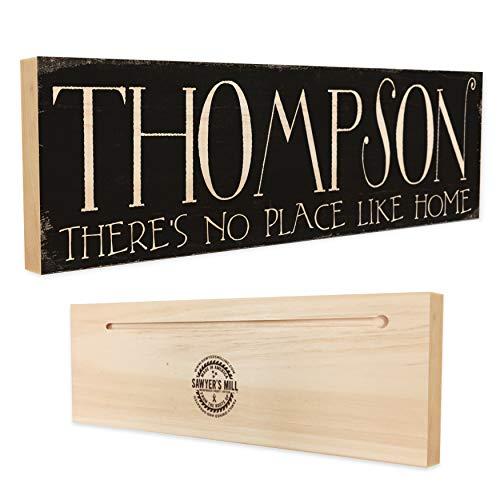 Personalized Family Name Wood Sign - Custom Made Rustic Real Wood Sign - Wedding Gift]()