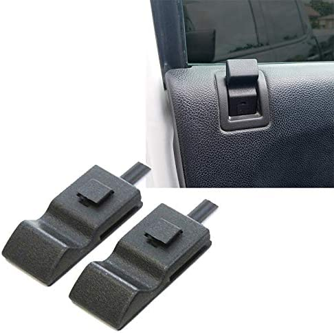 Naliovker Pack of 2 Fits for Chevy//GMC Silverado//Sierra 07-13 Door Lock Knobs Front//Rear Ebony Black