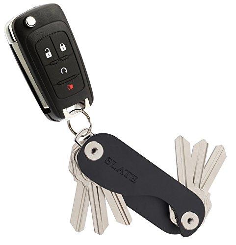 SLATE Key Holder Keychain Organizer Pocket Portable Aluminum Compact Smart Key
