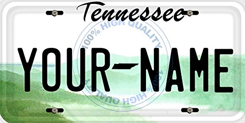 BleuReign(TM) Personalized Custom Name Tennessee State Car Vehicle License Plate Auto Tag (ALL STATES AVAILABLE)