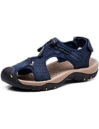 Mens Sports Sandals Summer Leather Outdoor Fisherman Beach Athletics Walking Hiking Sandals