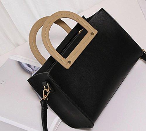 YCMDM donne pacchetto della spalla di modo Borsa retrò Borsa Messenger Portable Piccola Piazza Borsa , black