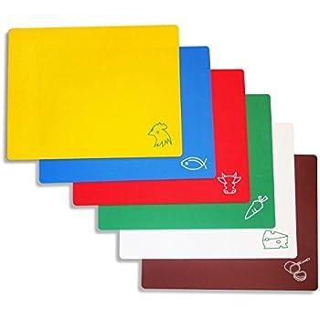Amazon Com Extra Thick Flexible Plastic Cutting Board