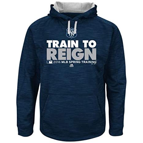 more photos 6e361 78efe Majestic Athletic New York Yankees Hooded Sweatshirt Spring Training 2016  Size X-Large
