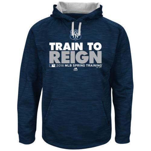 Majestic Hood Athletic (Majestic Athletic New York Yankees Hooded Sweatshirt Spring Training 2016 Size X-Large)