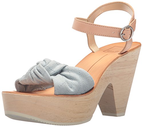 (Dolce Vita Women's SHIA Wedge Sandal, LT Blue Denim, 8 M US)