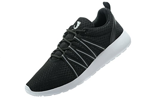 Fanic Men's Comfortable Lightweight Running Shoes Walking Shoes Outdoor Exercise Athletic Breathing sneakers (MEN,44EU/10US, Black)