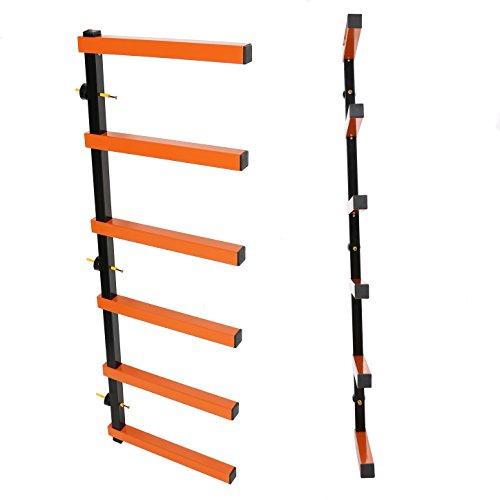 7BLACKSMITHS Six-Level 600 lb Capacity Lumber Storage Rack Wall-Mounted both Indoor and Outdoor Use Wood Organizer Rack by 7BLACKSMITHS (Image #4)