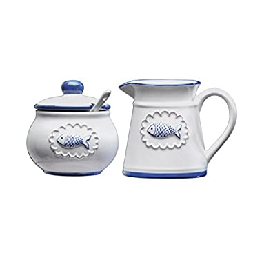 Amici San Remo Ceramic Collection Creamer and Sugar Set