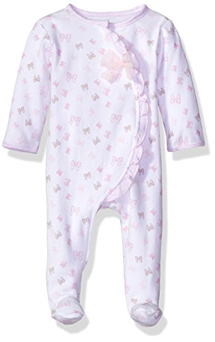Sterling Baby by Vitamins Baby Girls' Asymetrical Coverall, Bows, NB