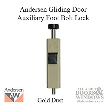 Andersen Auxiliary Foot Bolt Lock for Frenchwood Gliding Door - Gold Dust  sc 1 st  Amazon.com & Andersen Auxiliary Foot Bolt Lock for Frenchwood Gliding Door - Gold ...