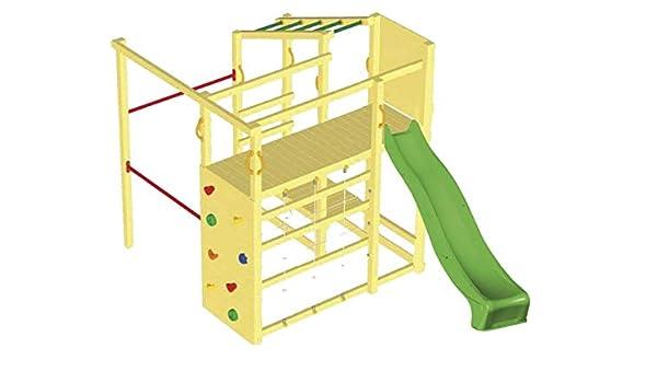 MASGAMES Parque Infantil Torre Crossfit con rampa de tobogán: Amazon.es: Juguetes y juegos