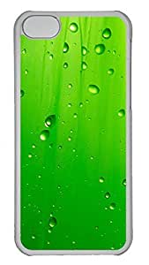 iPhone 5C Case Abstract Green Water Droplets 2 PC iPhone 5C Case Cover Transparent