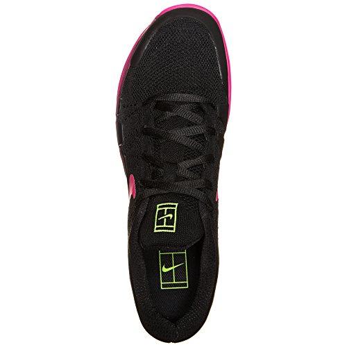 Nike 845797-007, Zapatillas de Tenis para Hombre Negro (Black / Volt / Pink Blast)
