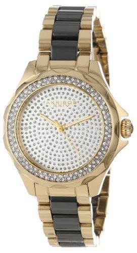 Akribos XXIV Women's AK534YG Swiss Quartz Diamond Ceramic Link Bracelet Watch