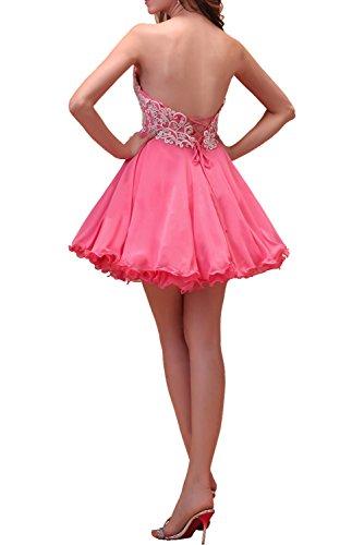 Partykleider Kurz Spitze Traegerlos Beliebt Chiffon Altrosa Ivydressing Abendkleider Damen Tanzenkleider Linie A Ballkleider 6z0qwwZ