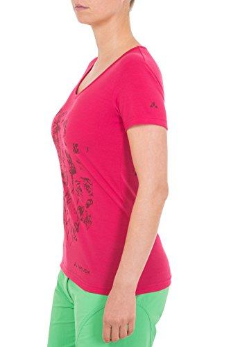 VAUDE T-Shirt Women's Gleann Shirt II - Camiseta para mujer Grenadine