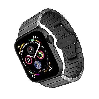 ARTCHE 42 mm 44 mm sportband för Apple Watch rostfritt stål ersättningsrem armband justerbart armband bälte, kompatibelt med iwatch serie 1 2 3 4 5