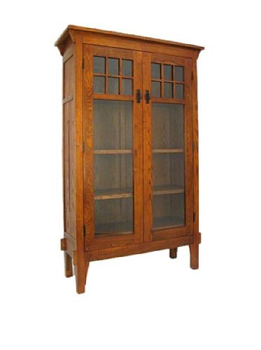 Wayborn Home Furnishing Bookcase with 2 Shelves, Oak Finish